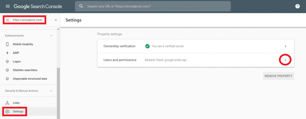 Go to the Settings option.