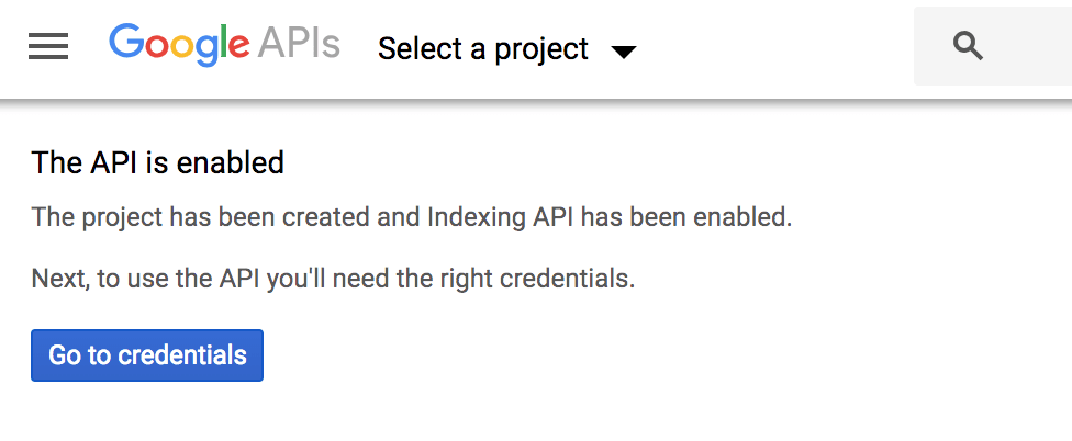 Confirm API Enabled